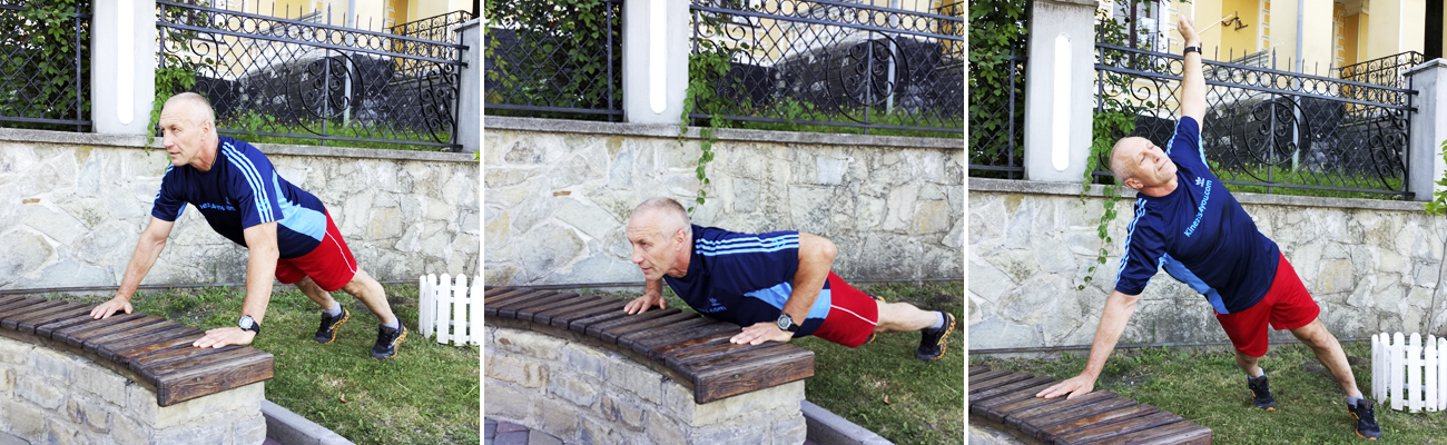 Push-Up-Reach-Park-Bench-Workout