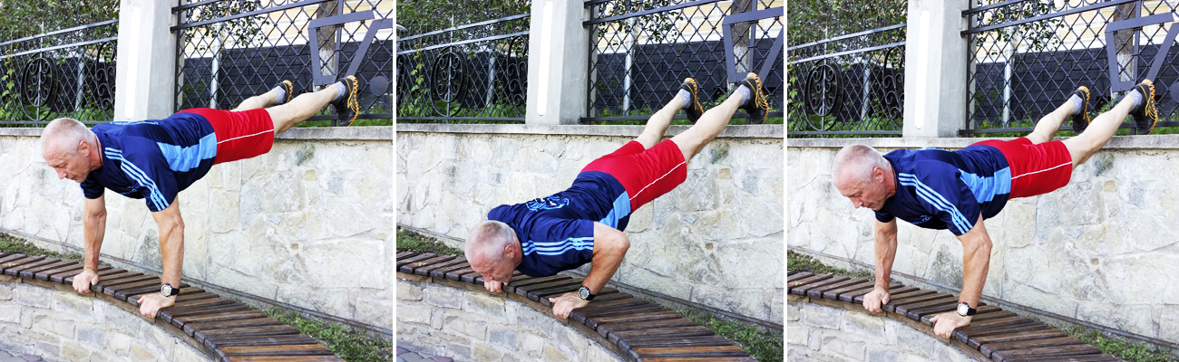 Push-Up-Reach-Park-Bench-Workout_усложнение1